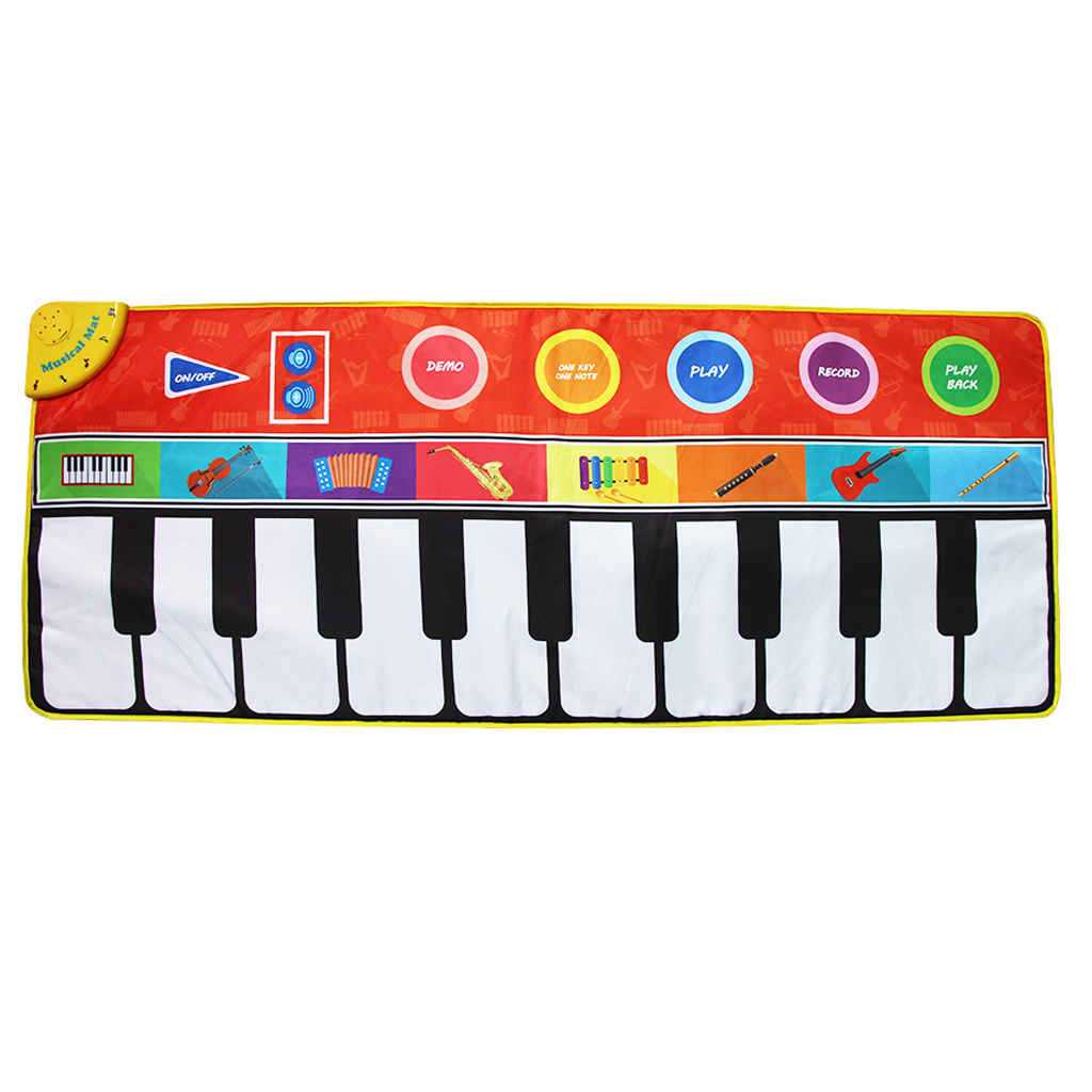 Kids Toy Touch Play Piano Keyboard Figure Music Carpet Mat Blanket 148x60cm