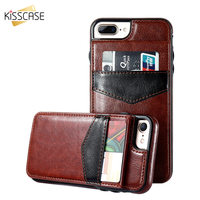 KISSCASE For IPhone 6s Phone Cases Cool Design 2 In 1 Leather Cases With Card Holder