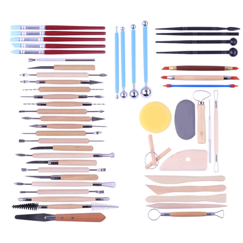 51Pcs Sculpting Craft Canvas Draw Tools For Nail Art Mandala Painting Rocks Embossing Pattern Ceramic Clay Dotting Tools