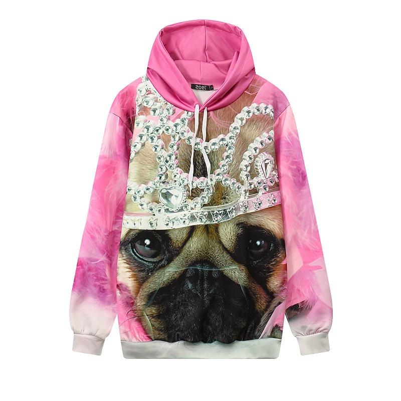 783eb84a869d Pink Hoodies 3D Print Cute Dog Graphic Hoodies Long Sleeve Sweatshirts  Casual Pullovers Unisex Hip Hop Street Tops Outerwear-in Hoodies    Sweatshirts from ...