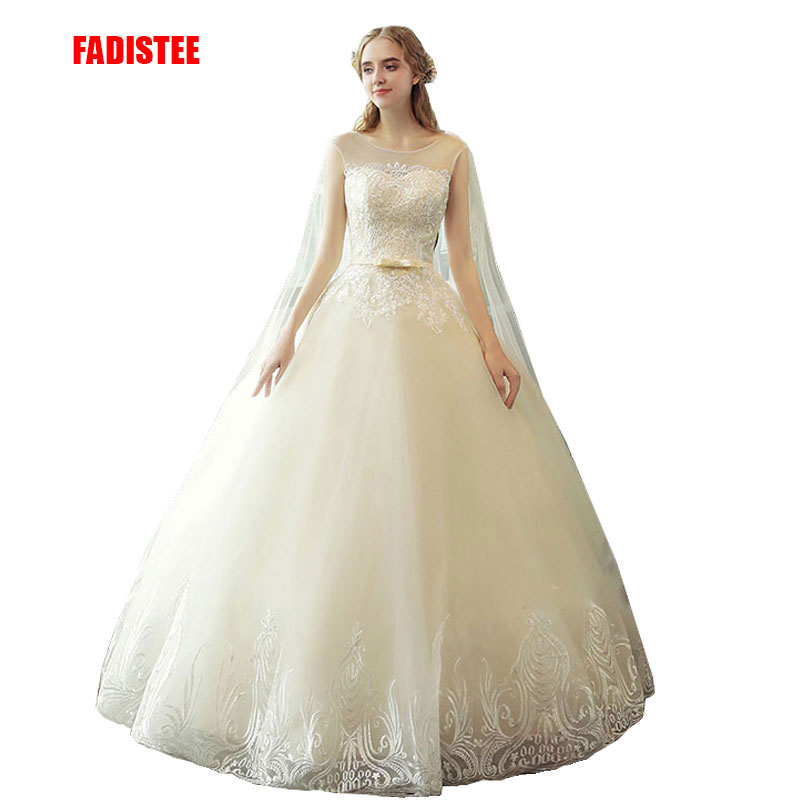 FADISTEE New Arrival Elegant Wedding Dress Vestido De Festa Dress Tulle Ball Gown Long Style Lace Court Train Party Dresses