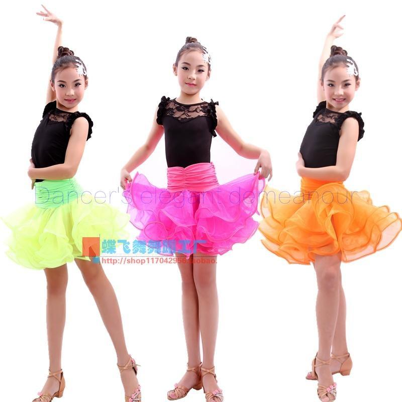 ヾ(^▽^)ノAdulto niño Latino traje de danza encaje sin mangas Top + ...
