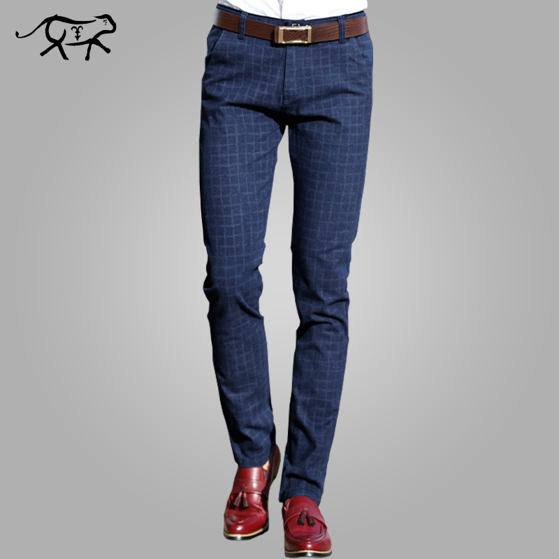 2018 New Pants Men Spring Autumn Fashion slim fit Casual Pants Men Straight Dress Business Suit Trousers brand Mens Pant For Man
