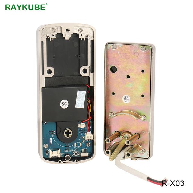 RAYKUBE Electronic Door Lock Touch Screen Digital Password Mifare 13.56Mhz IC Card Opening Keyless Entry Smart Door Lock R-X03