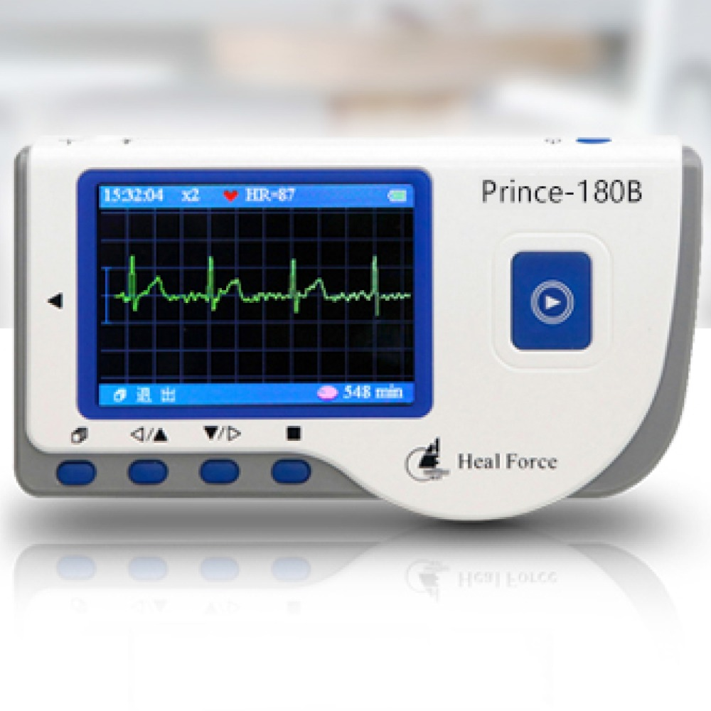 USB Heal Force Prince 180B Software Portable Household Heart Ecg EKG Handheld Heart Monitor Continuous Measuring Color Screen heal force prince 180b blue color portable heart ecg monitor electrocardiogram contain ecg lead wire