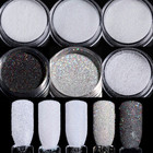 BORN PRETTY 2g Shining Sugar Glitter Powder 1 Box Holo Nail Glitter Powder Nail Decoration Glitter 8 Colors Nail Glitter Dust