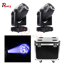 2pcs With Flightcase 200W Beam Spot Wash Moving Head Light 3in1 LED DMX Control Stage Moving Light Professional Stage Lighting