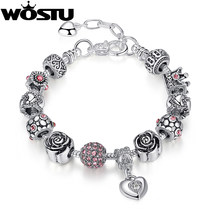Top Quality Silver Charm Bead Fit Original Bracelets for Women European Style Jewelry Christmas Gift XCH1468(China)