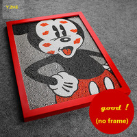 Nice Mickey Mouse Painting Diy 5D Diamond Painting Disny Mickey Mouse Full Embroidery Round Diamond