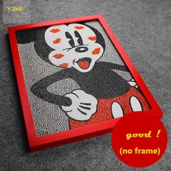 Diy 5d Elmas Boyama Mickey Mouse Boyama Tam Nakış 3 Boyutları