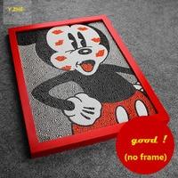 Pintura Diamante 5D Diy Mickey Mouse Pintura Bordado Completo 3 Tamaños Rhinestone Diamante Redondo 30*40 cm Pintura Diamante Micky