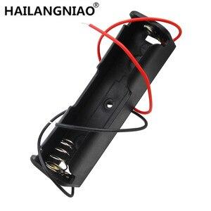 Nueva caja de soporte de batería 18650 negro con cable de plomo 3,7 V Clip 5 uds de alta calidad
