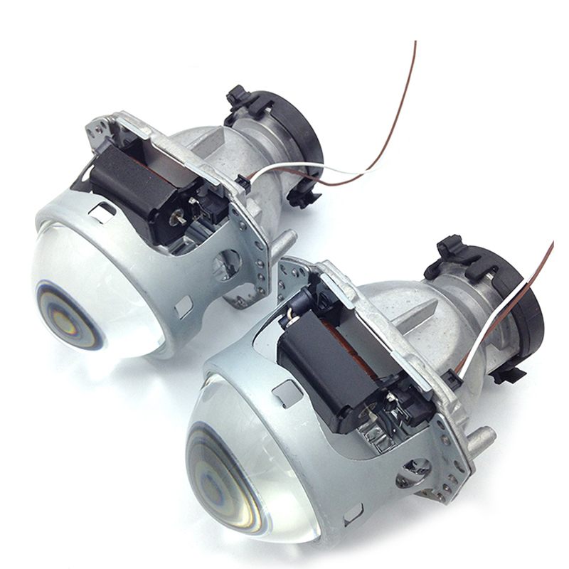 Nikauto 2pcs/set Auto Car Headlight 3.0 inch Bi-xenon Hella 3R G5 5 Projector Lens D2S Modify HID Xenon Headlamp 1x original hella projector control wire q5 bi xenon hid projector solenoid wire plug pigtail set wiring car styling accessories