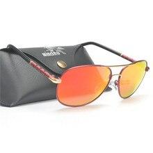 Классические Мужские поляризационные солнцезащитные очки фирменный дизайн вождения очки модные пилот солнцезащитные очки UV400 FML