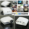 New Digital Mini Projector Built In TV Tuner LED Video Projecteur USB HDMI VGA 3.5mm Audio Proyector Cheap Price