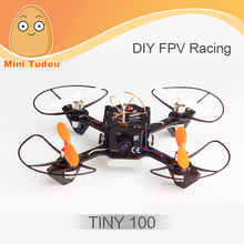 Minitudou New Racing Drone Profissional With Camera HD Tiny100 Micro FPV ARF Version With OSD 5.8G 600TVL RC Helicopter Toys