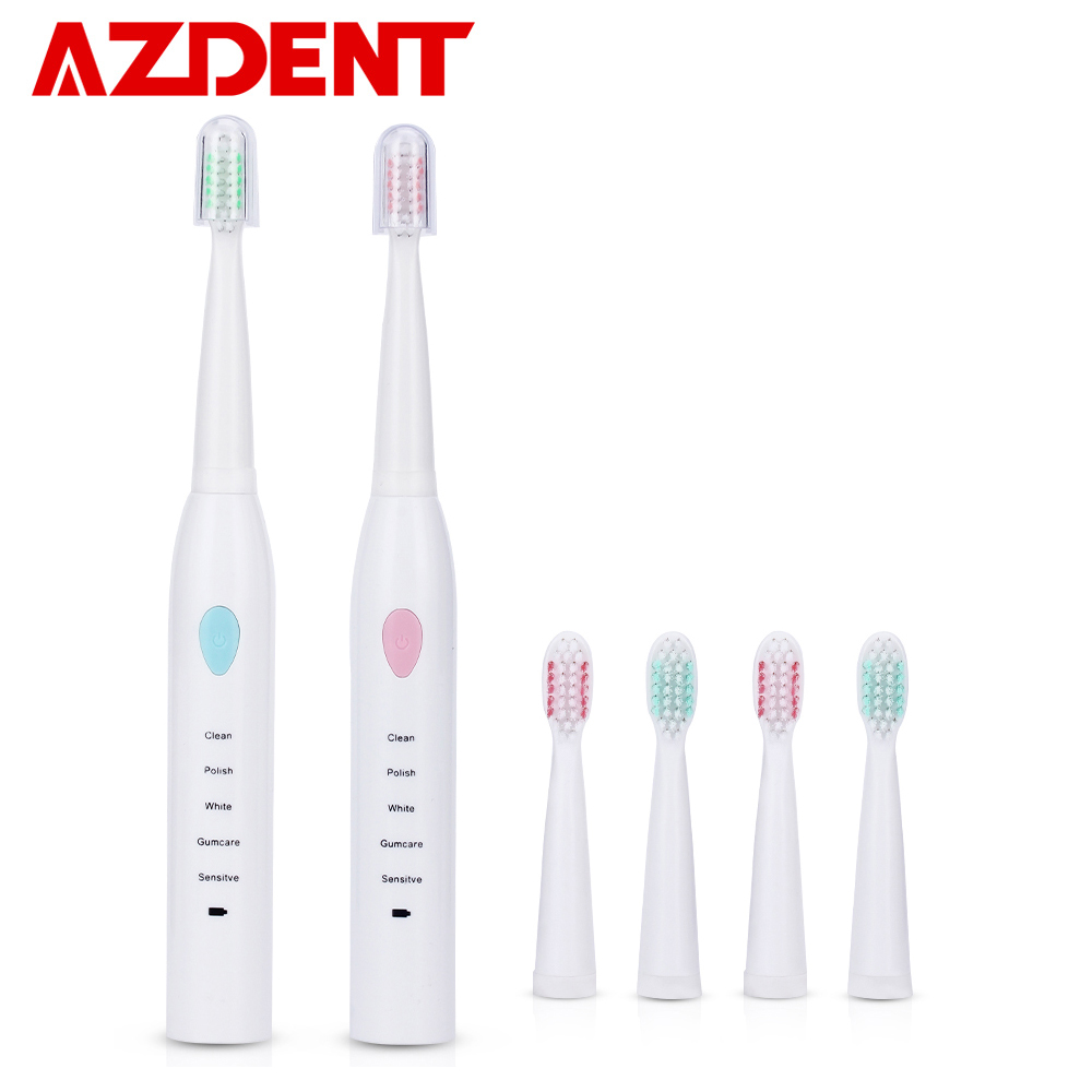 New 5 Functions Electric Toothbrush Rechargeable For Adults Children Sonic Teeth Tooth Brush USB Charger 4 Heads 2 Minutes Timer