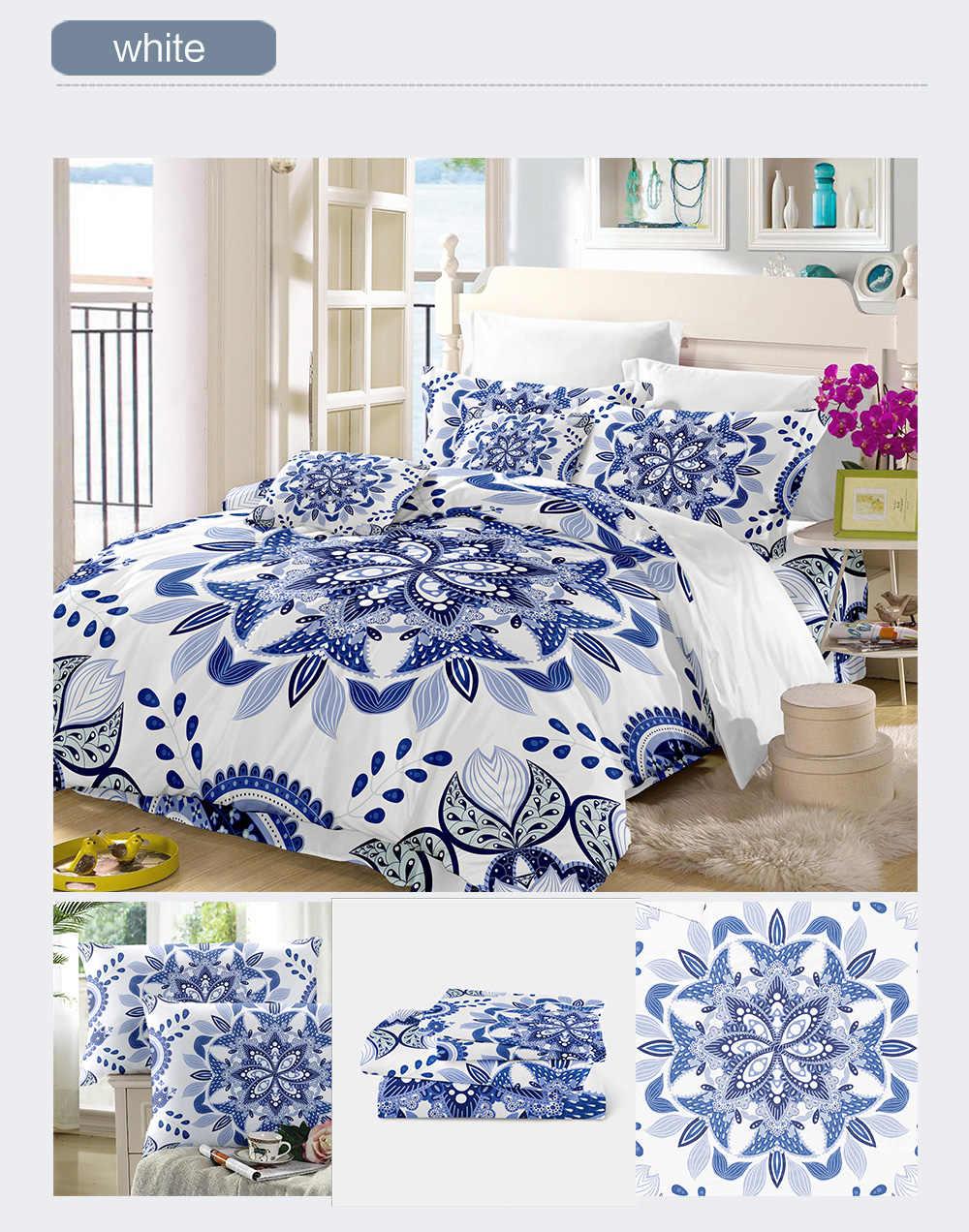 Luksusowy chiński etniczny stylowa pościel zestaw zestaw poszewek niebieski biały porcelanowy pościel poszewki 45*45cm poszewka