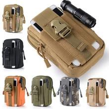 Molle Equipment Tactics Waist Bag Waterprooof Nylon Military Waist Pack Fanny Pack for Women Men Mobile Phone Pouch 5.5 inch