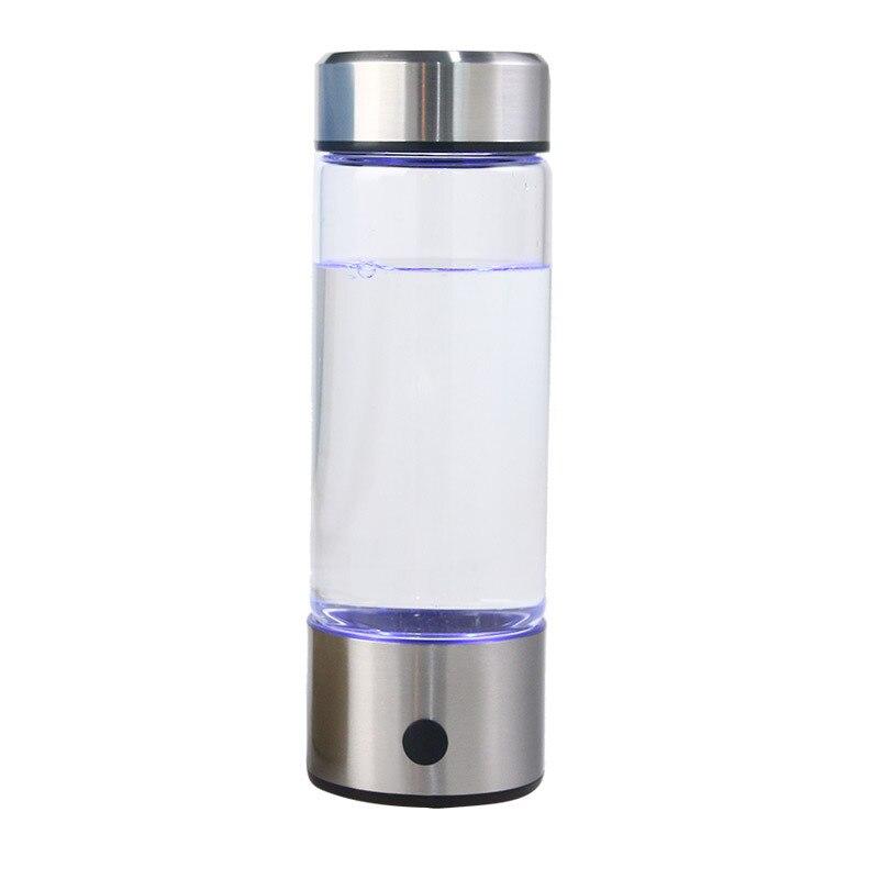 420ML De Água De Hidrogênio Gerador Maker Alcalina Recarregável Portátil para H2 hidrogênio-rico puro garrafa de água eletrólise