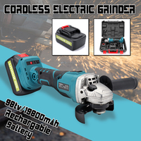 100mm Brushless Angle Grinder Rechargeable Battery Electric Angle Grinder Cordless Power Tool Cutting Grinding Machine