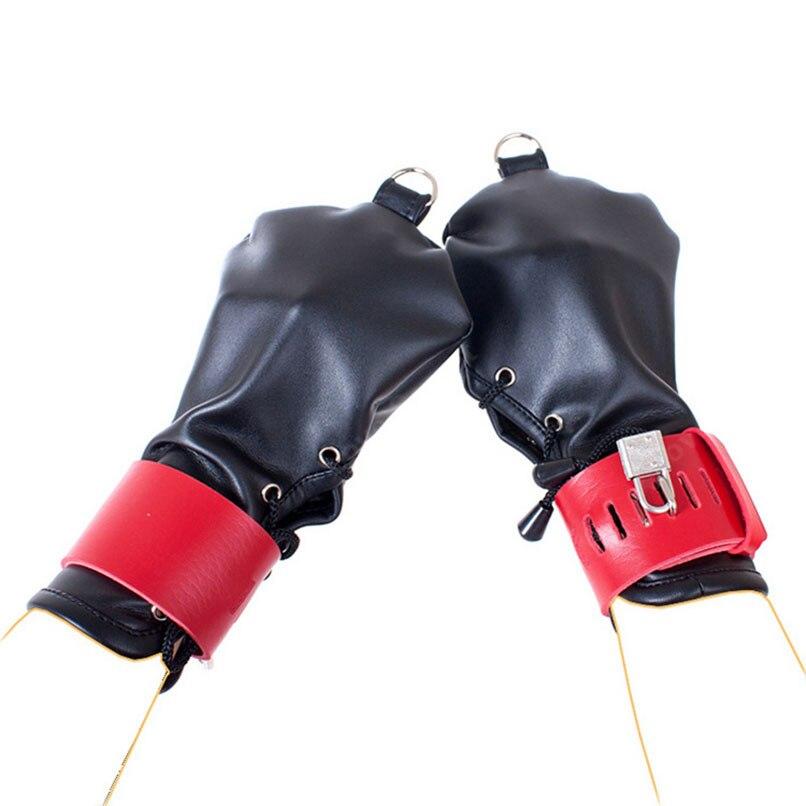 1par Låsning Handsker Hund Paw Palm pu læder hånd handsker-4099