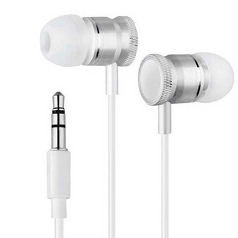 Zestaw głośnomówiący metalowe słuchawki 3.5mm w uchu przewodowe słuchawki douszne słuchawki z mikrofonem zestaw słuchawkowy do telefonu iphone xiaomi odtwarzacz MP3
