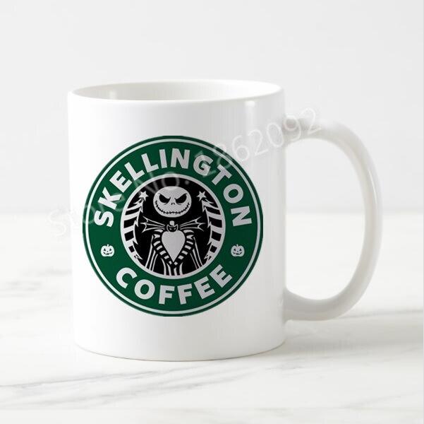 Novelty Christmas Mug Nightmare Before Christmas Jack Skellington Coffee Mug Creative Xmas Halloween Gift Mugs Cups
