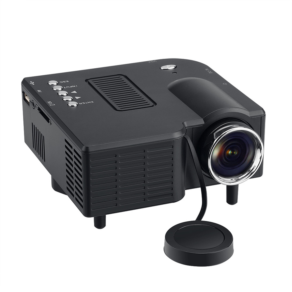 Prix pour Excelvan GM40 Portable Mini Projecteur Multimédia Cinéma Numérique LED Projecteur 320x240 VGA/USB/SD/AV/HDMI Beamer Proyector