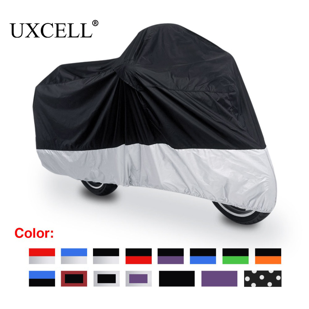 UXCELL /XL/XXL/XXXL 180T Rain Dust Motorcycle Cover Outdoor UV Motor Covers Fit For Honda Victory Kawasaki Yamaha Suzuki Harley