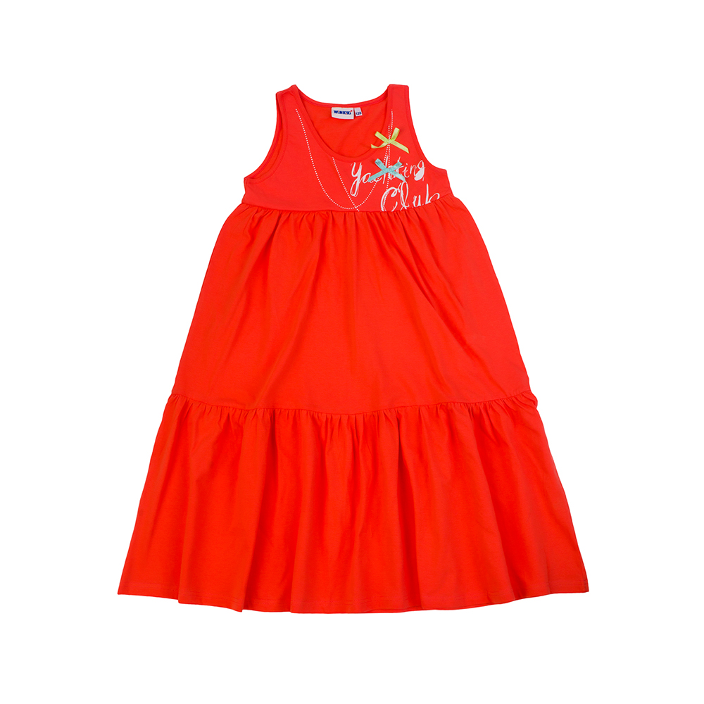 Dresses Winkiki for girls WJG81062 Kids Sundress Baby clothing Dress Children clothes dresses lucky child for girls 50 64 18m dress kids sundress baby clothing children clothes