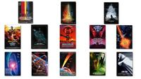 13pcs Full Size Star Trek Combination Movie Posters Print Silk Fabric Cloth Wall Sticker Wall Decor