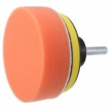Mayitr Durable 7Pcs 3 inch 80mm Car Polishing Buffing Pad Wheel Kit + Drill Adapter for Buffer Sponge Foam & Wool Blended