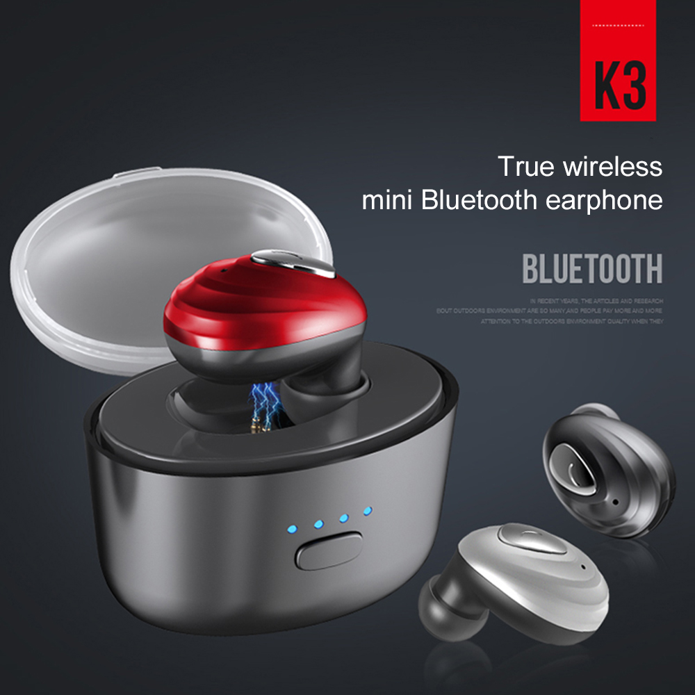 2018 New Mini Bluetooth Earphone Headset Wireless Earbud Earpiece With Mic Charging box For android ios HIFI 120h Standby Time wireless headphone bluetooth earphone hd headband headset with mic headsfree earpiece for android ios samsung iphone lg motorola