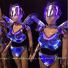 New Design Blue Color Led Luminous Catwalk Ballroom Costume Sexy Women Evening Party Dress Cosplay Stage