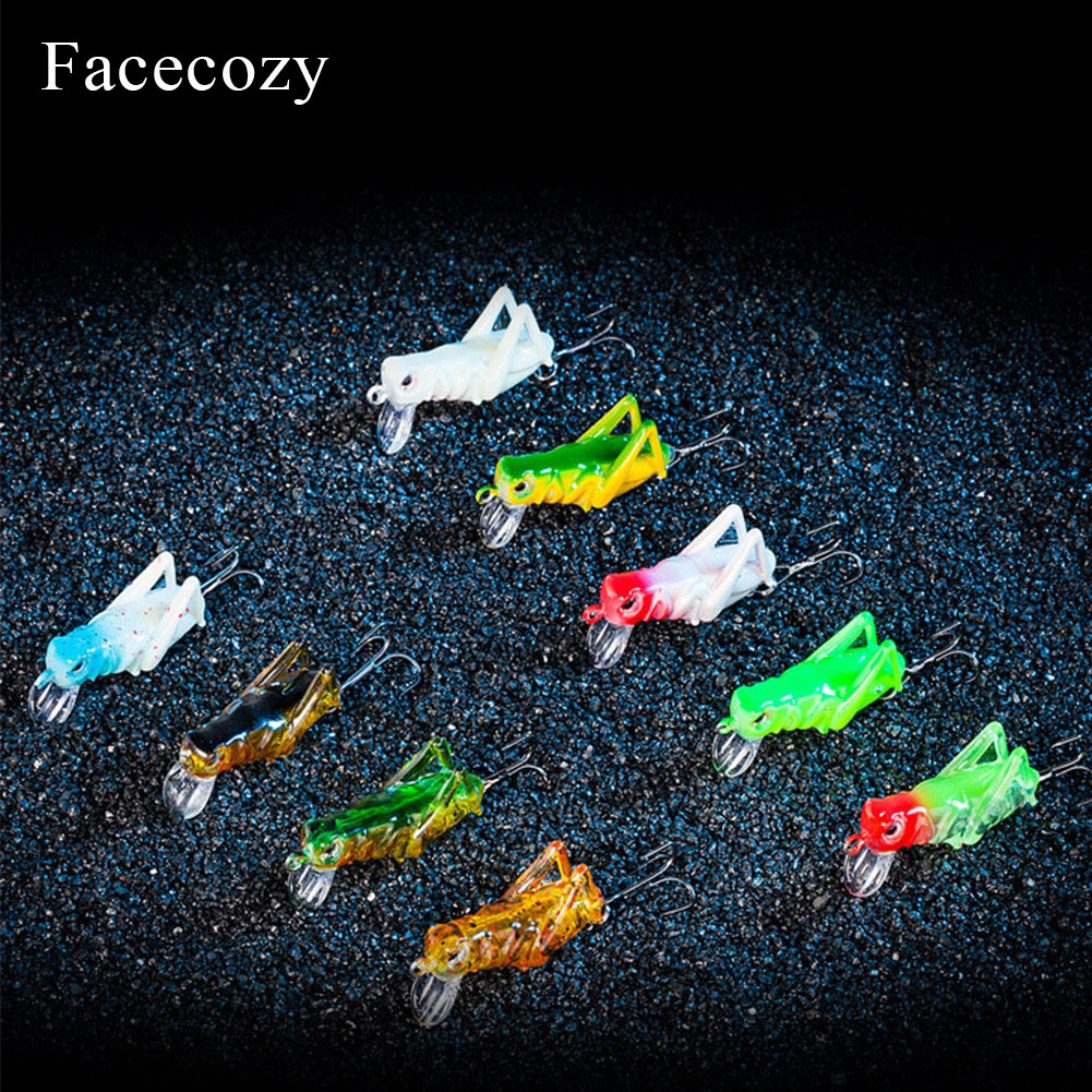 Image 3 - Facecozy Imitation Locust Artificial Bait Fishing Lures 1Pc Floating Type Swimbait Crankbait Suitable for Many Fingerlings-in Fishing Lures from Sports & Entertainment