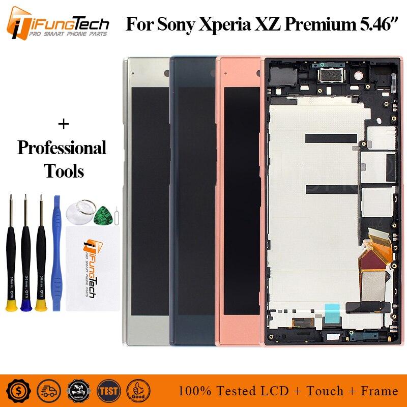 Pour SONY XZP LCD écran tactile numériseur assemblée pour Sony Xperia XZ Premium G8142 E5563 LCD remplacement avec cadre