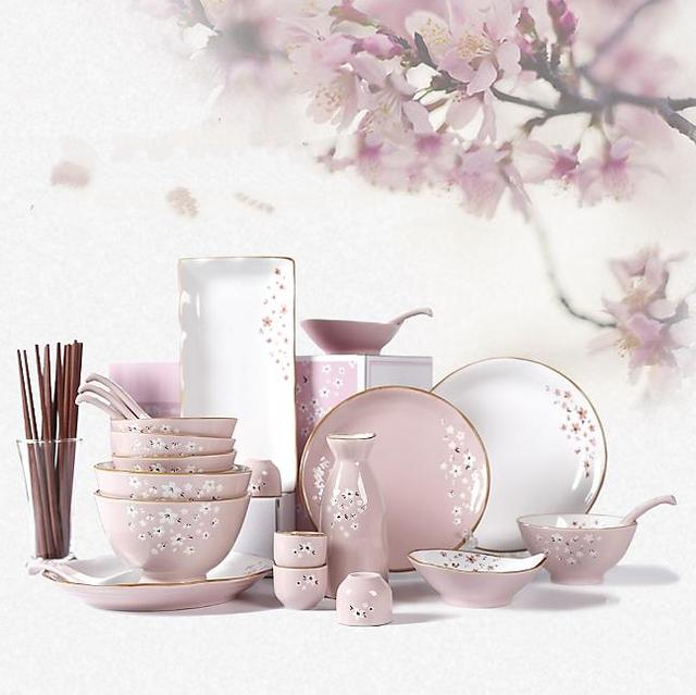 Omi 26-Piece Japanese Style Pink Sakura Dinnerware Set Service for 6 -Wedding  sc 1 st  AliExpress.com & Omi 26 Piece Japanese Style Pink Sakura Dinnerware Set Service for ...