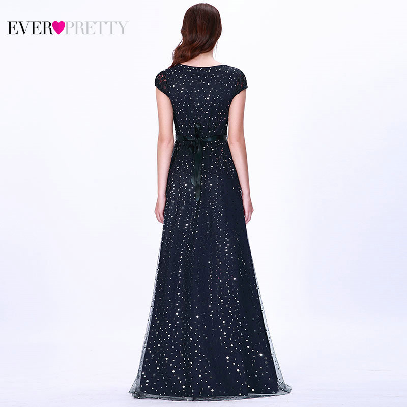 Prom Dresses Long 2019 Ever Pretty EZ07650 Women s Elegant Navy Blue Sleeveless Lace Appliques Embroidery