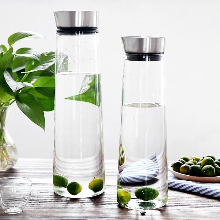 1L/1.5L High qulaity hot cold water bottle glass juice ...