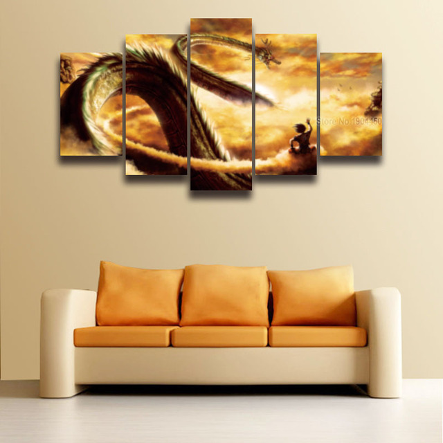 Printed Dragon Ball Z Goku Picture Canvas Painting for Wall Art Home ...