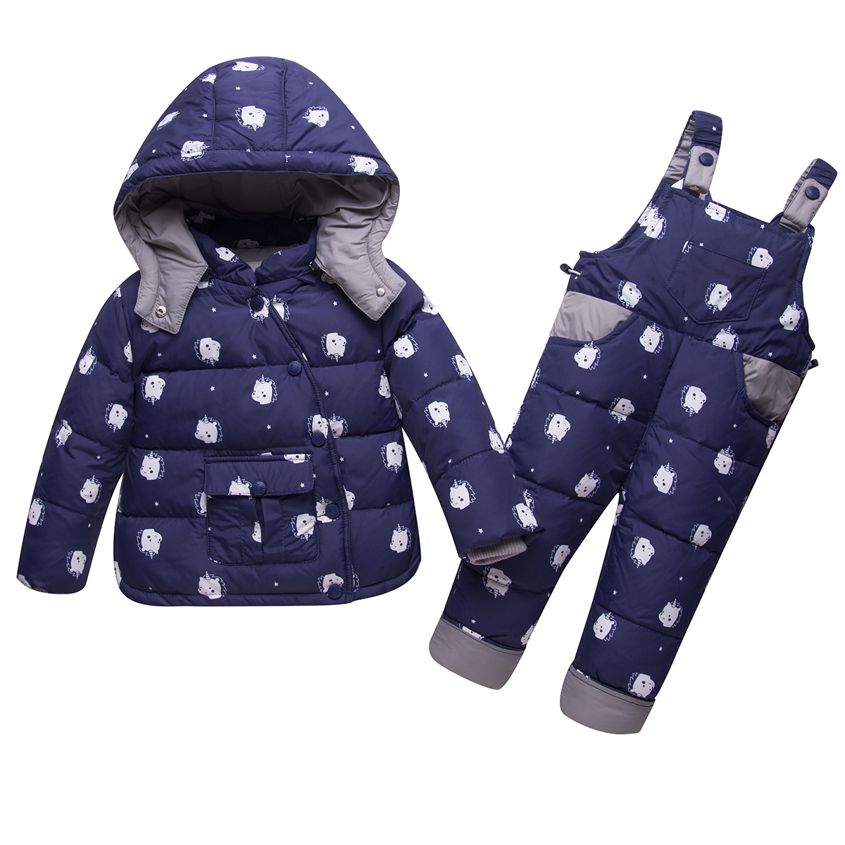 Suit Coat Down-Jacket Girls Baby Boys Kids Winter Child Cotton for And Thickening New-Set