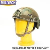 ISO Zertifiziert MILITECH MC NIJ Level IIIA 3A SCHNELLE OCC Liner Hohe XP Cut Kugelsichere Aramid Ballistischen Helm Mit 5 jahre Garantie-in Schutzhelm aus Sicherheit und Schutz bei