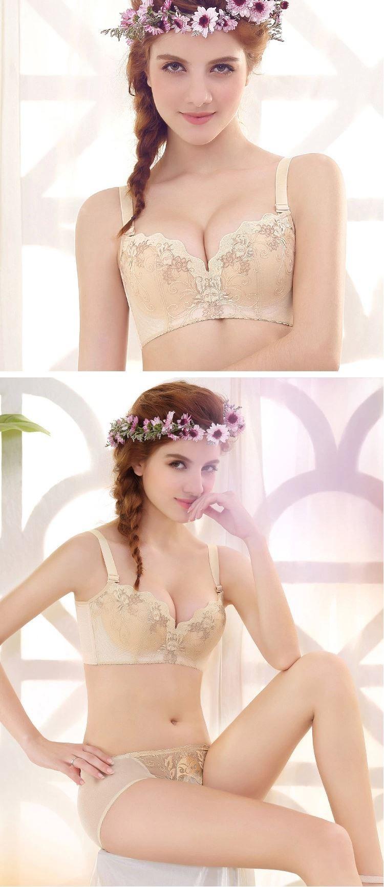 32a6e93b218 Free shipping 2014 sexy cute full cup underwear bra set good gift ...