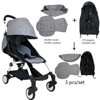 3Pcs/set Stroller Cover And Cushion Oxfords Back Zipper Pocket Baby Stroller Accessories For Babyzen yoyo Yoya Babytime Stroller