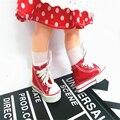 Boneca Acessórios Cores Sortidas 7.5 cm Sapatos Sapatas de Lona Para 1/4 BJD Doll & Mini Boneca & 16 Polegada Sharon Botas boneca