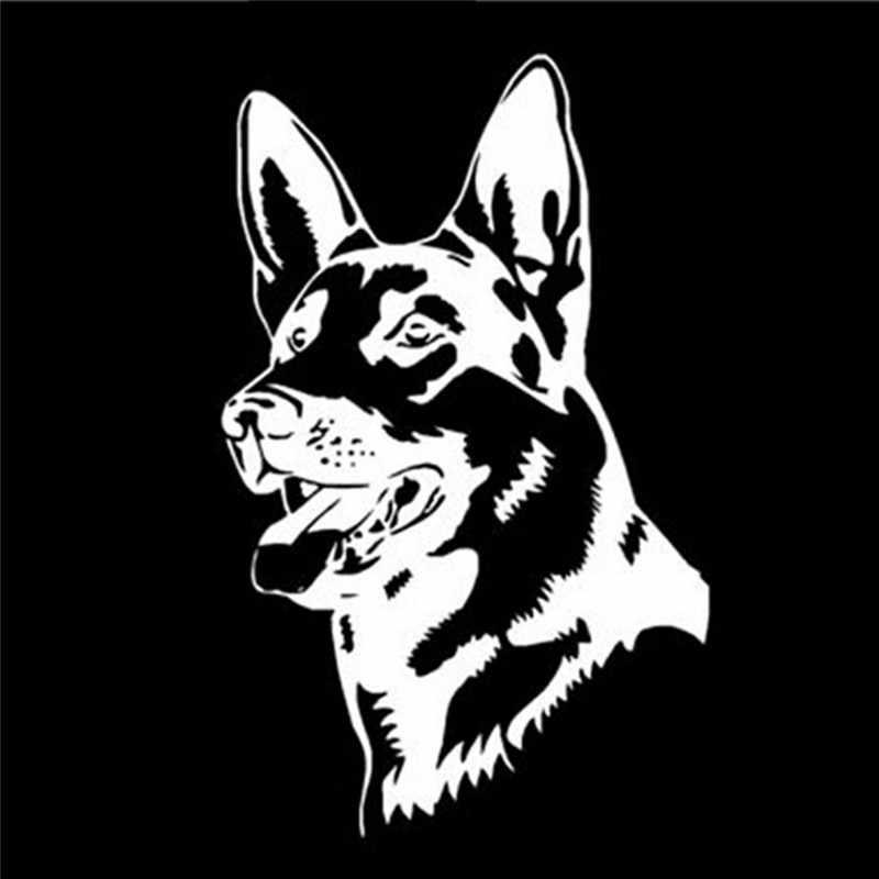 جديد كول الألماني الراعي الكلب ملصقات السيارات شخصية ملصق حائط من الفينيل ملحقات الشاحنة تصفيف السيارة أسود/فضي