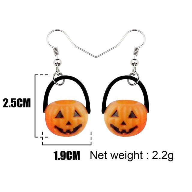 Adorable Pumpkin Earrings 2.5 x 1.9 cm 4