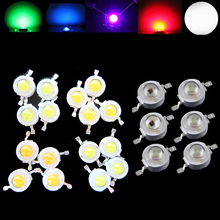 100pcs Lot 1W 3W Watt CREE High Power LED Light-Emitting Diode LEDs Chip SMD Spot Light Downlight Lamp Bulb For DIY RGB недорого