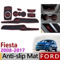 Anti Slip Gummi Tor Slot Tasse Matte für Ford Fiesta 2008 2017 MK6 ST Zubehör 2009 2010 2011 2012 2013 2014 2015 2016 MK7-in Autoaufkleber aus Kraftfahrzeuge und Motorräder bei